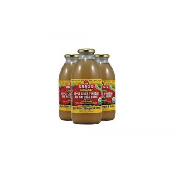 16oz Apple Cider Vinegar and Honey by 3